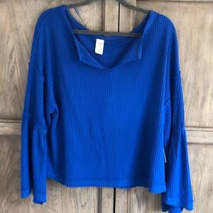 Free People Top with Bell sleeves, New With Tags.